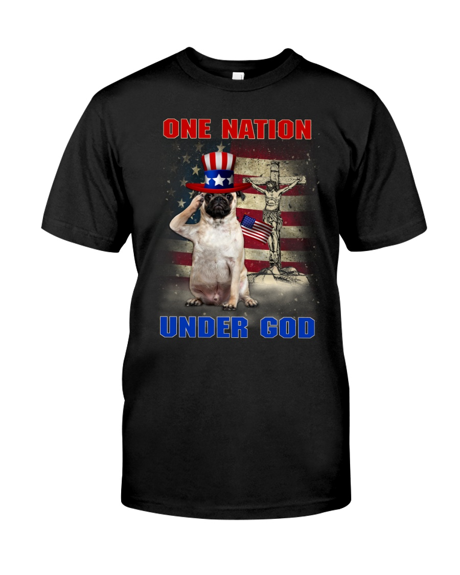 Pug One Nation Classic T-Shirt