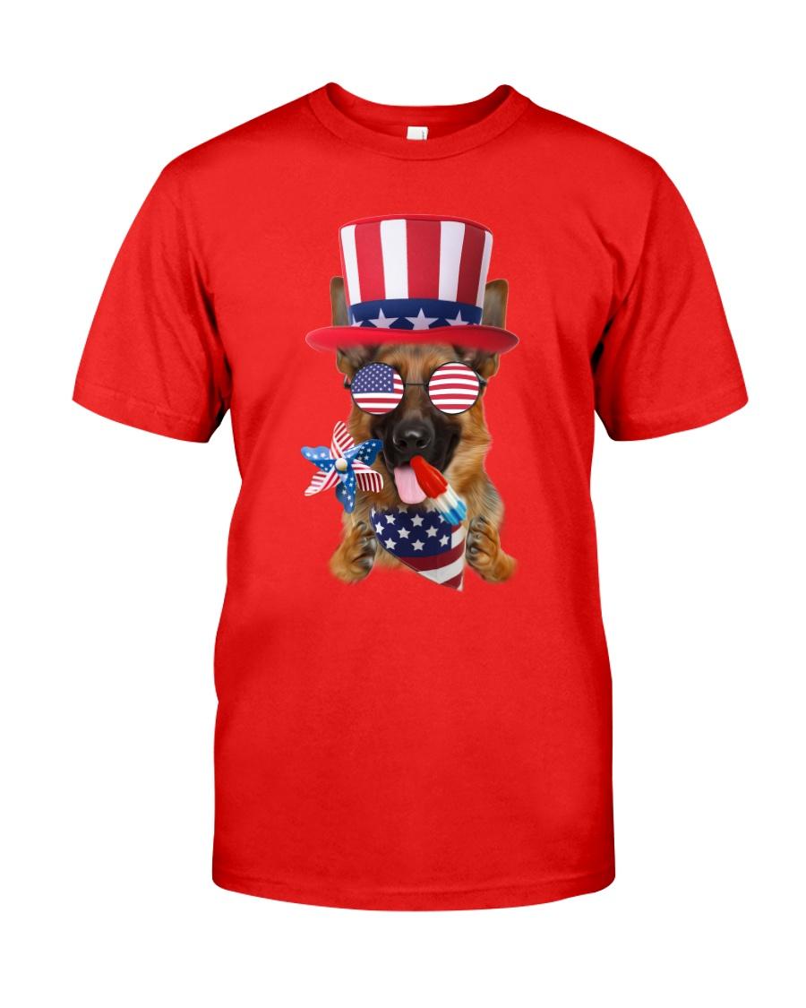 Independence Day German Shepherd Classic T-Shirt showcase