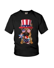 Independence Day German Shepherd Youth T-Shirt thumbnail