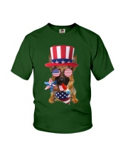 Independence Day German Shepherd Youth T-Shirt front