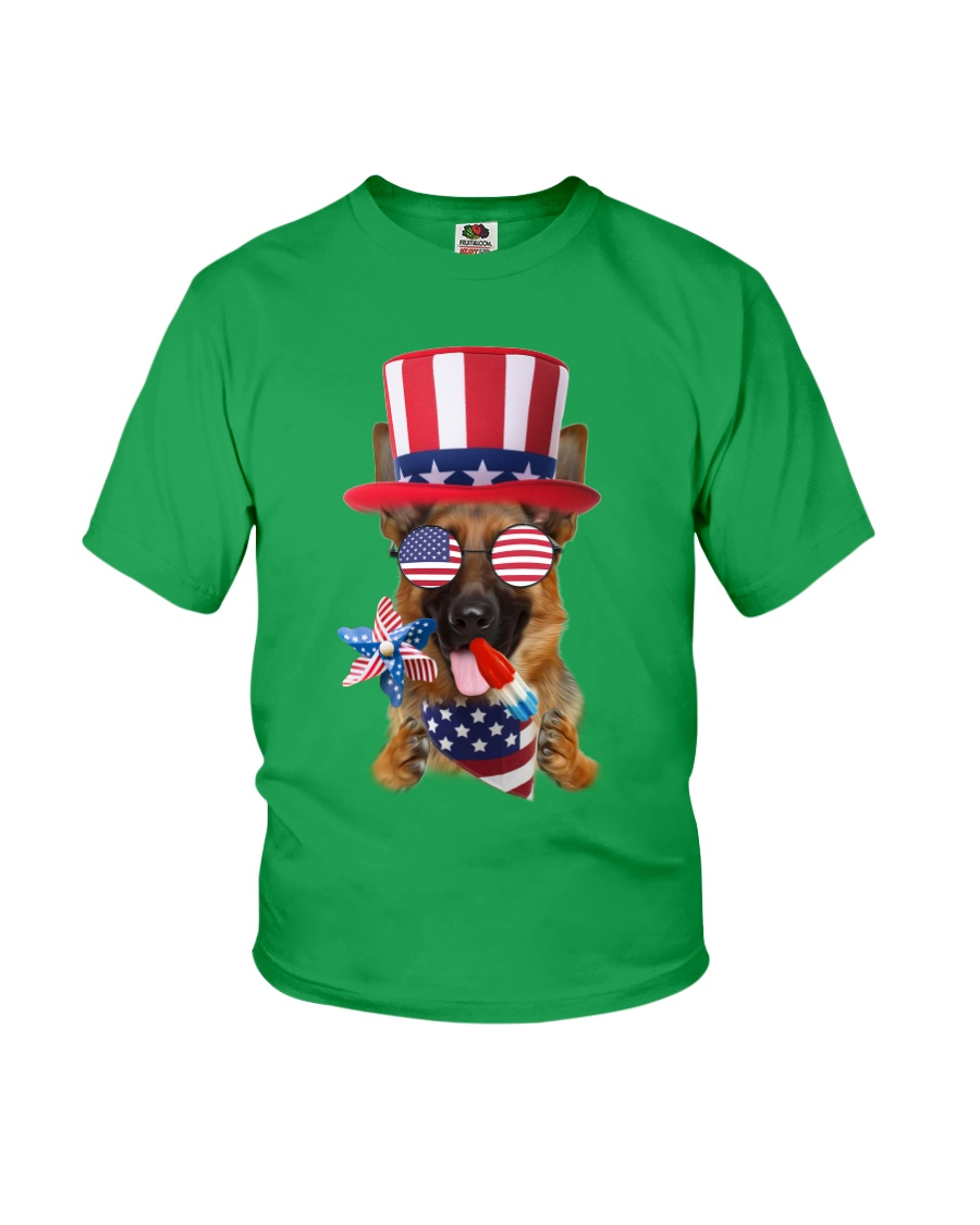 Independence Day German Shepherd Youth T-Shirt
