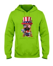 Independence Day German Shepherd Hooded Sweatshirt front