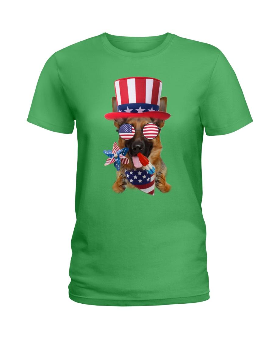 Independence Day German Shepherd Ladies T-Shirt