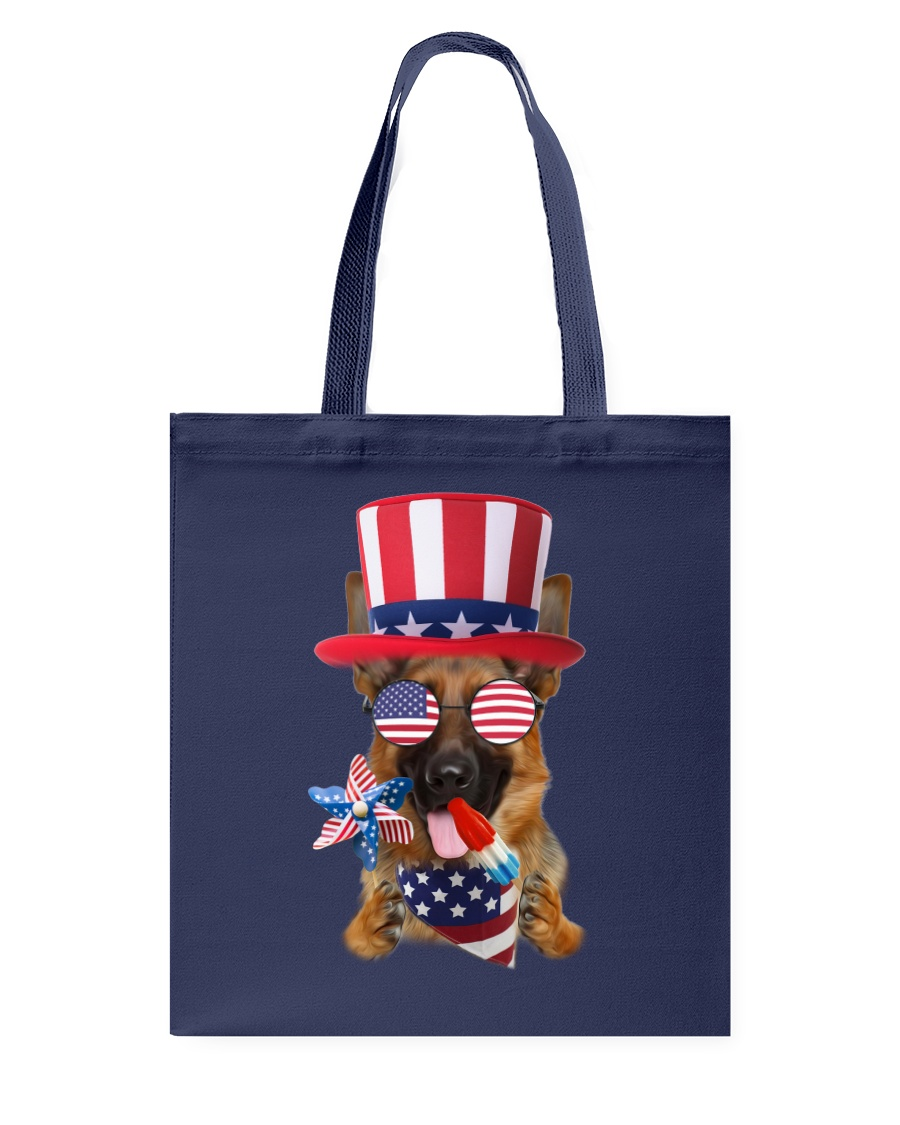Independence Day German Shepherd Tote Bag