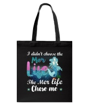 Mermaid Chose Me Tote Bag thumbnail