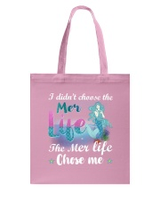 Mermaid Chose Me Tote Bag front