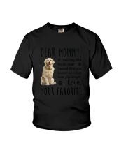 Dear Mommy Golden Retriever Youth T-Shirt thumbnail