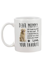 Dear Mommy Golden Retriever Mug back