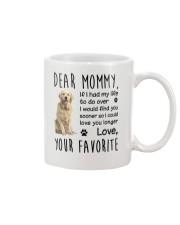 Dear Mommy Golden Retriever Mug front