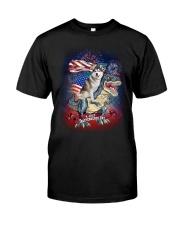 Dinosaur Siberian Husky Classic T-Shirt front