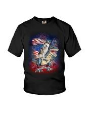 Dinosaur Siberian Husky Youth T-Shirt thumbnail