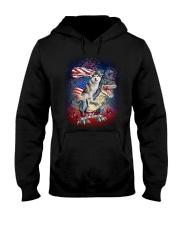 Dinosaur Siberian Husky Hooded Sweatshirt thumbnail