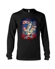Dinosaur Siberian Husky Long Sleeve Tee thumbnail
