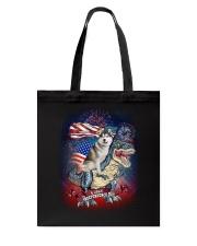 Dinosaur Siberian Husky Tote Bag thumbnail