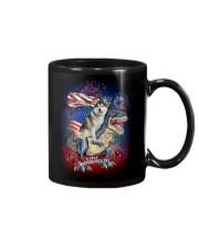 Dinosaur Siberian Husky Mug thumbnail