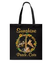 Sunshine Peace Cats Tote Bag thumbnail