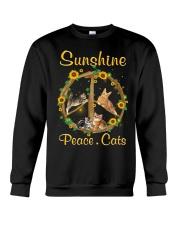 Sunshine Peace Cats Crewneck Sweatshirt thumbnail