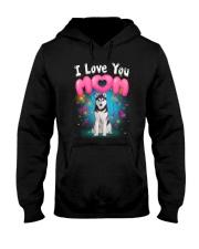 Siberian Husky  I Love Mom Hooded Sweatshirt thumbnail