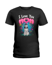 Siberian Husky  I Love Mom Ladies T-Shirt thumbnail