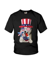 Independence Day Siberian Husky Youth T-Shirt thumbnail