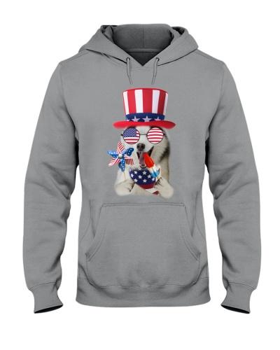 Independence Day Siberian Husky