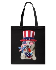 Independence Day Siberian Husky Tote Bag thumbnail