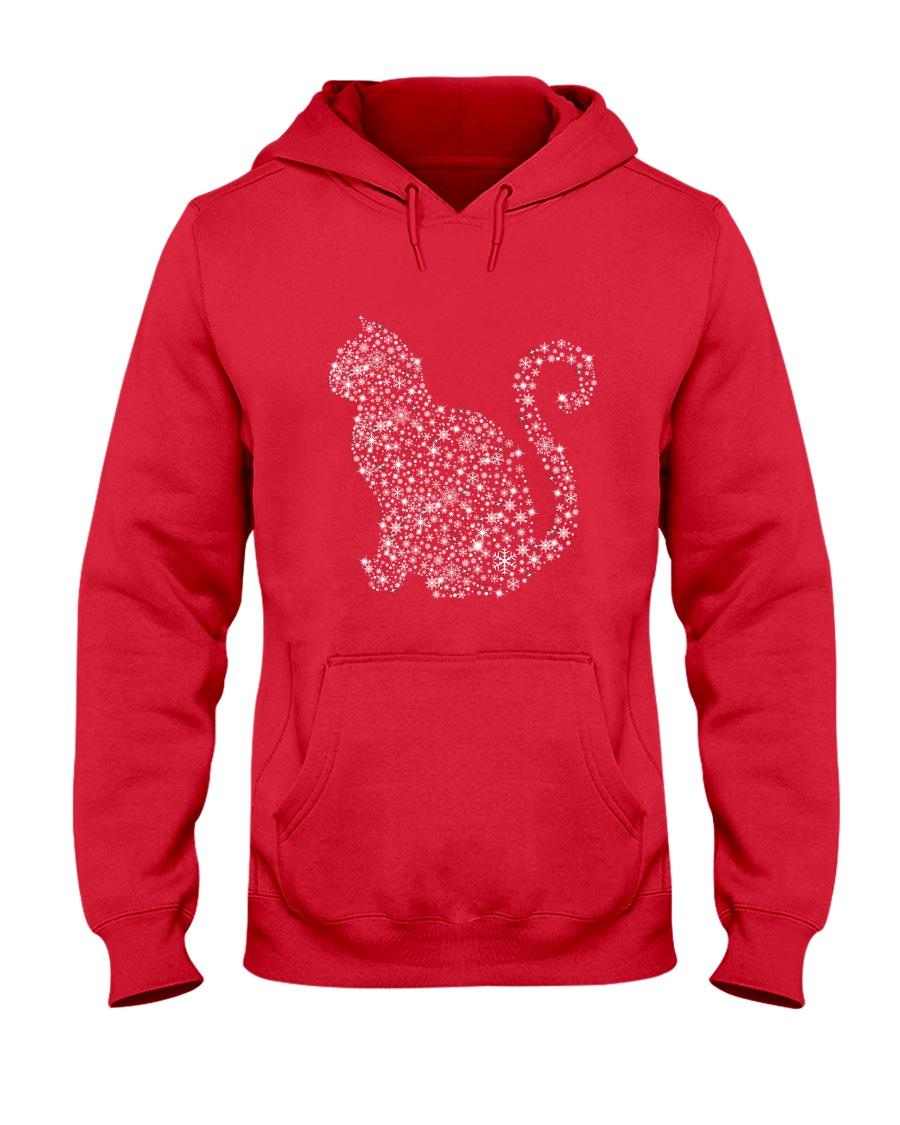Cat Snowflake  Hooded Sweatshirt