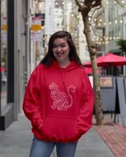 Cat Snowflake  Hooded Sweatshirt lifestyle-unisex-hoodie-front-2