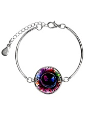 Colorful Face  Metallic Circle Bracelet thumbnail