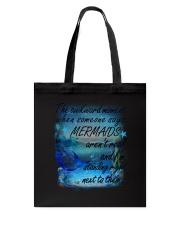 Mermaid Standing Right Tote Bag thumbnail