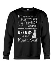 German Shepherd Sassy Talking Crewneck Sweatshirt thumbnail