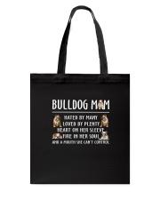 Bulldog Mom Tote Bag thumbnail