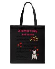Poem From Bull Terrier Tote Bag thumbnail