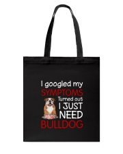 Bulldog Symptoms Tote Bag thumbnail