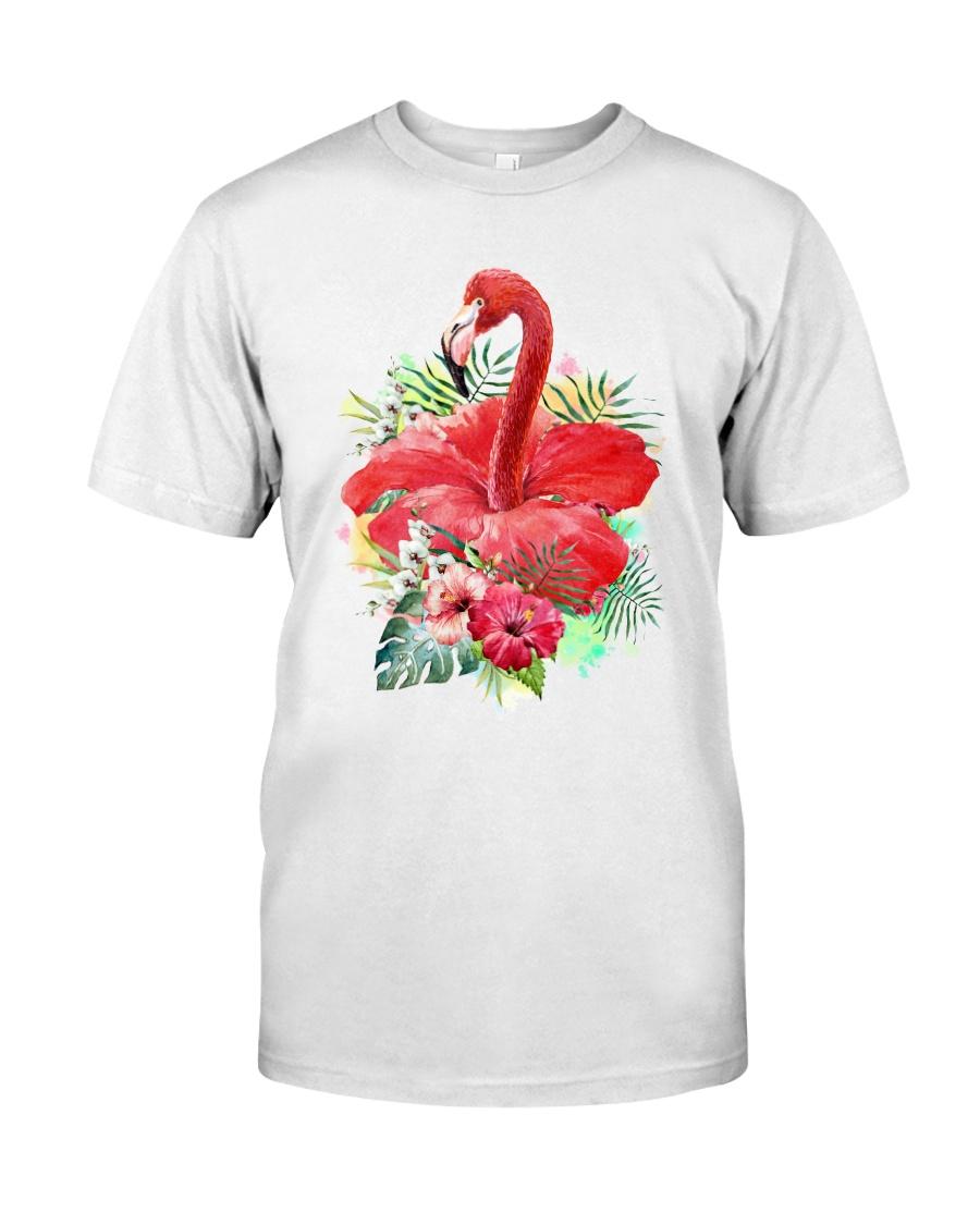 Flamingo Flower  Classic T-Shirt