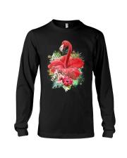Flamingo Flower  Long Sleeve Tee thumbnail