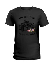 Bulldog Happily Ever After Ladies T-Shirt tile