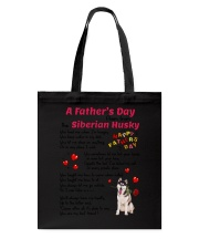 Poem From Siberian Husky Tote Bag thumbnail