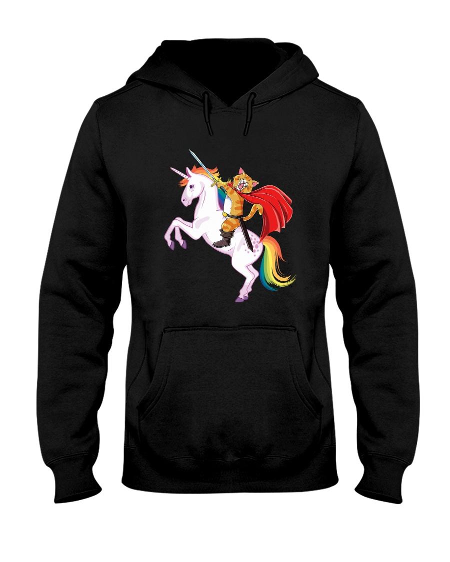 PHOEBE - Cat ride Unicorn - 2011 - D1 Hooded Sweatshirt