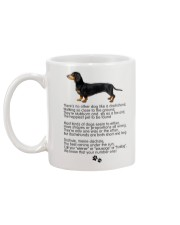 Dachshund Number One Mug back