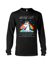 Think Before Act Unicorn Long Sleeve Tee thumbnail