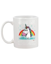 Think Before Act Unicorn Mug thumbnail