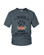 Dogs Make Me Happy Youth T-Shirt thumbnail