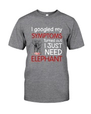 Elephant Symptoms Classic T-Shirt front