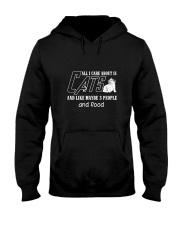 Cats All I Care Hooded Sweatshirt thumbnail