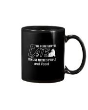 Cats All I Care Mug thumbnail