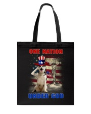 Siberian Husky One Nation Tote Bag thumbnail