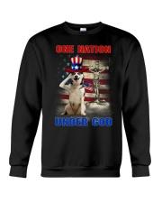 Siberian Husky One Nation Crewneck Sweatshirt thumbnail