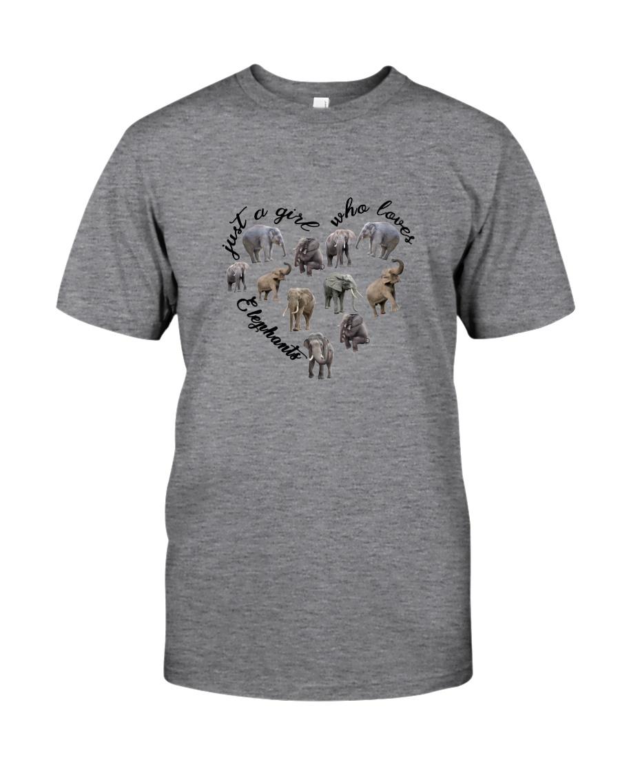 Just A Girl Elephants Classic T-Shirt