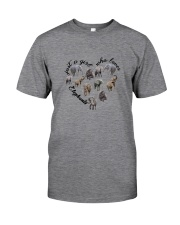 Just A Girl Elephants Classic T-Shirt front